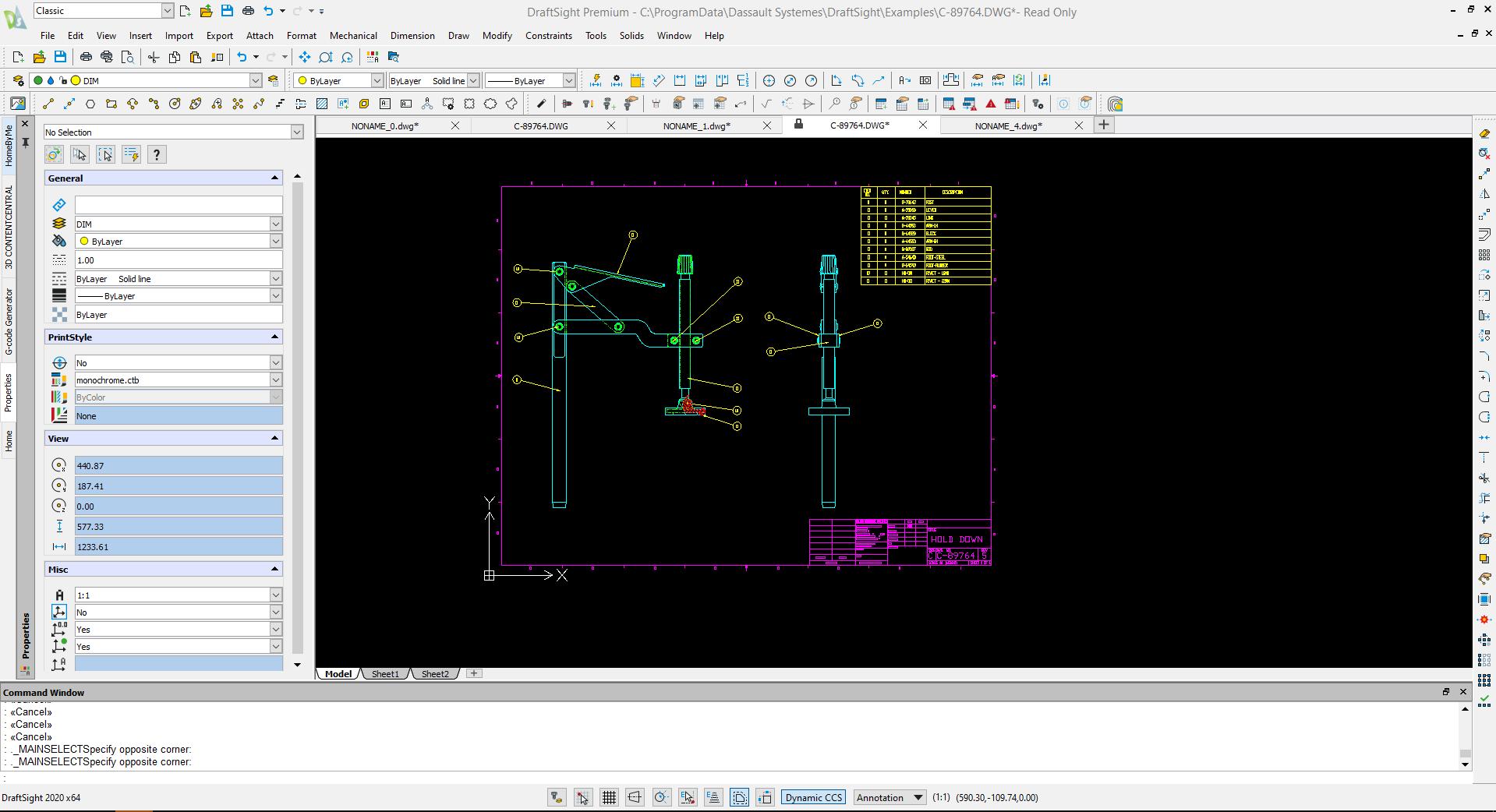 Introduction to DraftSight – 2 องค์ประกอบและหน้าตาของ DraftSight