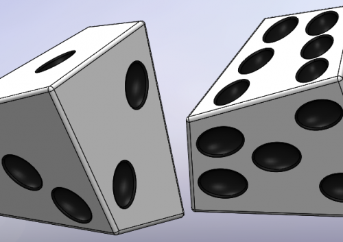 Getting Lucky with SOLIDWORKS: Creating a Skew Pair of Dice
