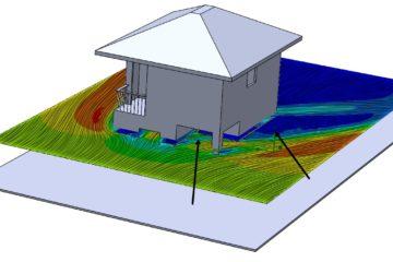 SOLIDWORKS Flow Simulation กับการวิเคราะห์ตำแหน่งมุมอับของบ้าน